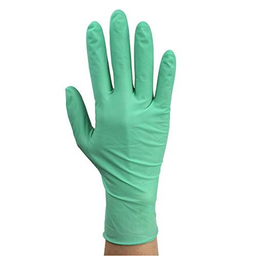 Dynarex Aloetex Latex Exam Gloves with Aloe, Powder Free, Medium, 1 Box of 100 Gloves, Green, Medium