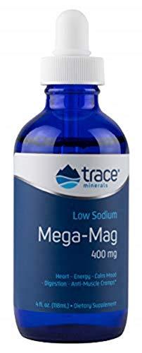 Trace Minerals Research | Mega-Mag | natürliches ionisches Magnesium mit Spurenelementen | 400 mg | 4 fl oz (118 ml) | vegan und glutenfrei