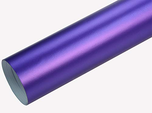 Neoxxim 8€/m2 Premium - Auto Folie - Chrom MATT Lila Ice 100 x 150 cm - blasenfrei mit Luftkanälen Klebefolie Selbstklebefolieselbstklebend flexibel