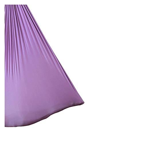 Swing sensorial Hamaca de yoga volando hamaca girando yoga hamaca tela de seda con cadena de carabiner y margarita para pilates antitravísticos de yoga Flexibilidad y fuerza del núcleo mejoradas