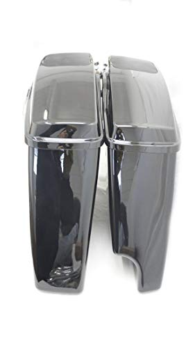 """COMPLETE 2 Into 1 4.5"""" EXTENDED STRETCHED SADDLEBAGS W/ 6X9 SPEAKER LIDS FOR HARLEY 14-UP(HDB-008-2014-SP)"""