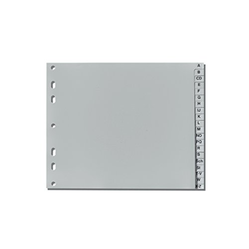 Herlitz 10843514 Register A-Z, 23 x 18 cm halbe Höhe, PP, Eurolochung