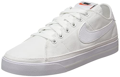 Nike Wmns Court Legacy Cnvs, Zapatillas Deportivas Mujer, White White Summit White, 39 EU