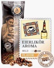 Coffee-Nation Aroma-Kaffee Eierlikör 1000g Bohnen | Spitzenqualität | Kaffeeliebhaber