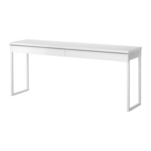IKEA(イケア) BESTA BURS デスク ハイグロス ホワイト