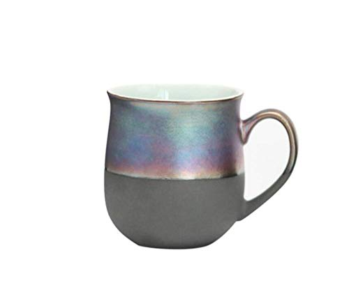 Qnmbdgm koffiemok Europese stijl 350 ml Turkse stijl metaal glas persoonlijkheid mok keramiek creatieve ijs email mok ontbijt mok water thermale mok Daily Drinkware