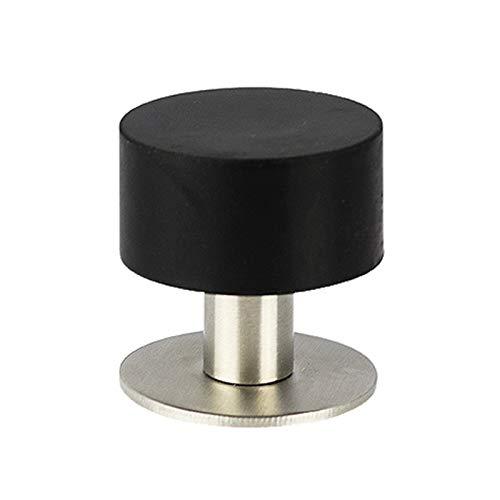 GGLL Tope magnético ajustable de acero inoxidable para puerta, tipo grueso, apto para dormitorio, baño, cocina, hogar, oficina, color negro