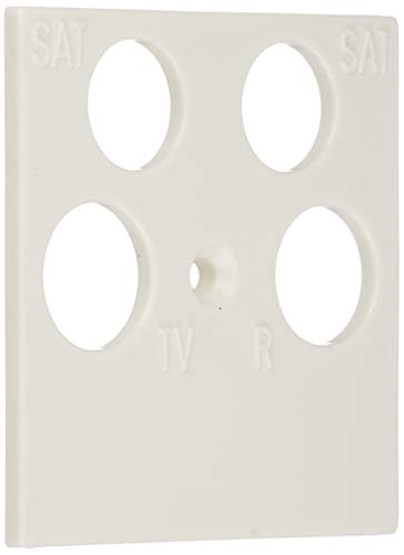 Gira 025903 Abdeckung 4-fach 50 x 50mm, reinweiß