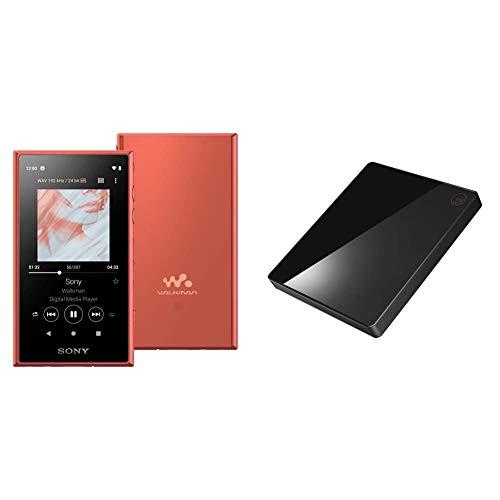【ウォークマンとCDレコ(WiFiモデル)セット】SONY ウォークマン 32GB Aシリーズ NW-A106 オレンジ NW-A106 DとI-O DATA WiFiモデル 「CDレコ5」 ブラック CD-5WK