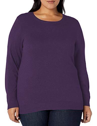 Amazon Essentials Plus Size Lightweight Crewneck Sweater cardigan-sweaters, Purple Heather, 6x