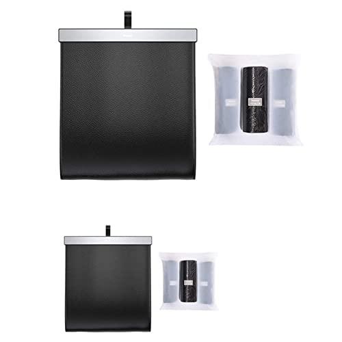 FJYDBTWJ Cubos de Basura, Bote de Basura, Bolsa de Almacenamiento Multifunción Plegable para Automóvil, Bote de Basura de Almacenamiento Impermeable, una Bolsa + Bolsa de Basura/2 Bags+2 Bags Garbage