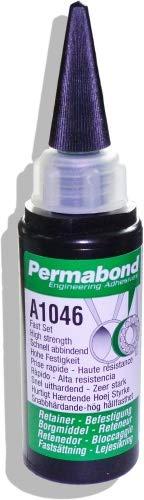 Permabond A1046 | 50 ml Kunststoff-Flasche mit Auftragsdüse | schnell härtend | Anaerober Klebstoff Kleber | Befestigung Abdichtung Metallteile | Festigkeit Temperaturbeständig Chemiekalienbeständig
