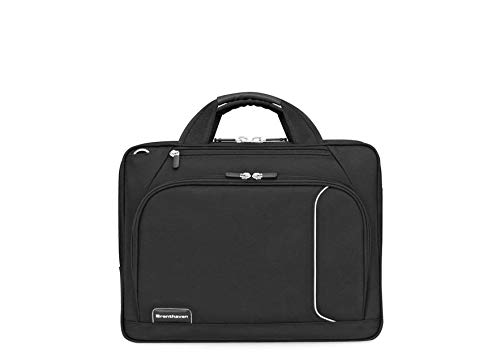 Brenthaven Prostyle Shoulder Case Fits 15 Inch Chromebooks, Laptops, Tablets for Commercial,Business and Office Essentials - Black, Durable, Rugged Protection from Impact and Compression