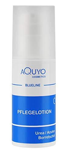Blueline Creme Lotion zur Hautpilz, Fußpilz, Ekzem oder Neurodermitis Behandlung   Körperlotion für trockene und juckende Haut   Bodylotion bei Schuppenflechte, Hautrötungen oder Dermatitis (100ml Spender)