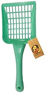 Foodie Puppies Durable Plastic Rectangle Holes Litter Scooper for Cat/Kitten (Color May Vary)