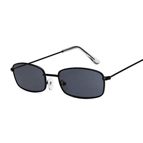 IRCATH Gafas de Sol cuadradas Rosas para Mujer/Hombre, Gafas de Sol para Mujer, Montura pequeña para Hombre, Espejo Negro de Moda de Metal, Adecuado para Conducir en la Playa, Fiesta de Senderismo-C
