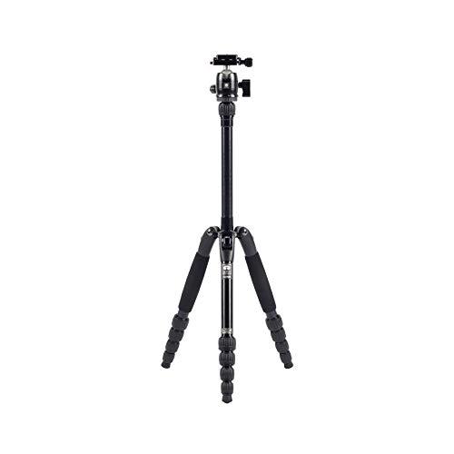 SIRUI T-005SK+B-00K Traveler Ultralight Dreibeinstativ Aluminium schwarz mit Kugelkopf (Höhe: 128cm, Gewicht: 1.13kg, Traglast: 5kg)