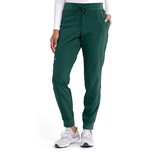 BARCO ONE - Pantalón deportivo Boost para mujer, de talle medio, con tejido elástico en 4 direcciones y 3 bolsillos, Hunter, XXS