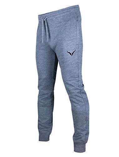 SCREENSHOT SPORTS-P11951 Mens Premium Slim Fleece Pants Zipper Pockets - Athletic Jogger Fitness Workout Gym Sweatpants-H.Grey-Large