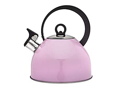 Studio Hot Water Tea Kettle, Stainless Steel Tea Pot with Whistle - 2.5L, Pink