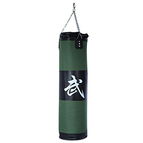 Najer Heavy Boxing Punch Bag with Chain Hollow Taekwondo Boxing Training Fitness Sandbag(Empty)