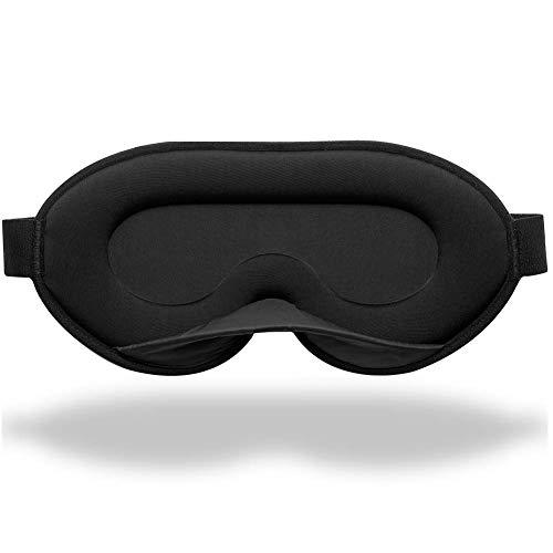 Unimi 2020 Neu Schlafmaske für Frauen und Männer, 3D Schlafmaske aus Gedächtnisschaum & Seiden, 3D konturierte Augenmaske, blockiert jedes Licht zu100{9a0cbdc7e4d58891a53e2c567212f032c52b2898bccf9875955401bfeb6e4ec7}, Schlafmaske für Reisen, Nickerchen, Yoga