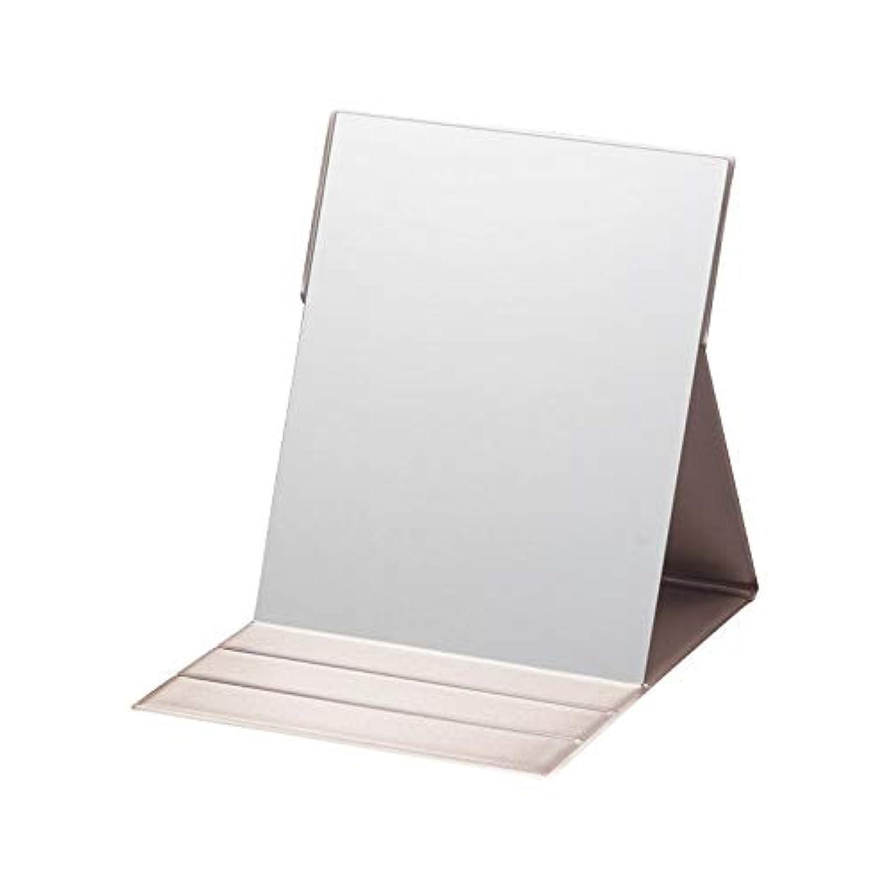 素子思いやりのあるつづりプロモデル折立ナピュアミラー L 【折りたたみ コンパクト 化粧 けしょう 持ち運び 折立ミラー 鏡】