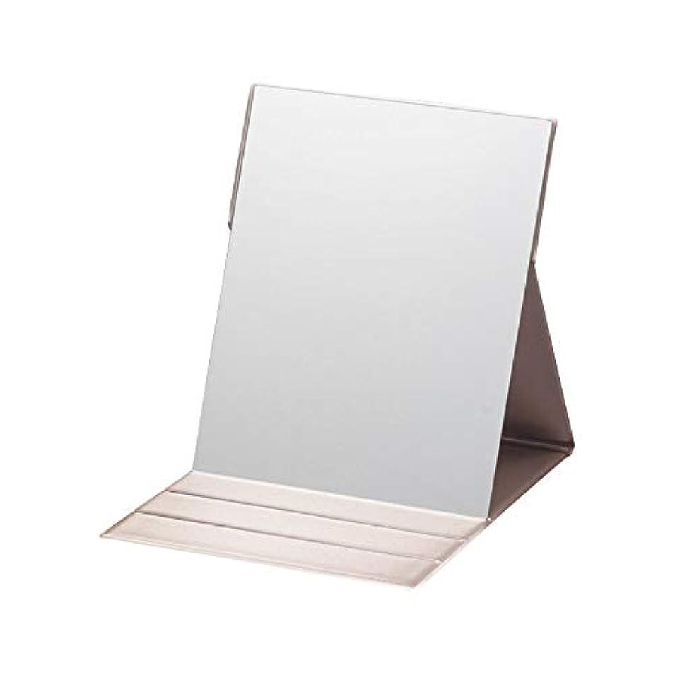 フィールド壁慢性的プロモデル折立ナピュアミラー L 【折りたたみ コンパクト 化粧 けしょう 持ち運び 折立ミラー 鏡】