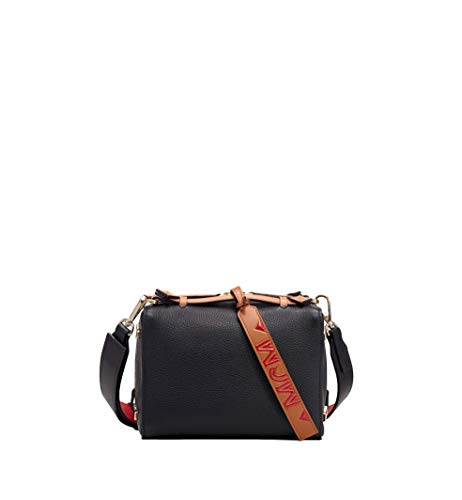 MCM Milano Boston Bag in Calfskin Leather