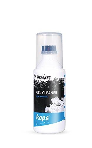 Kaps Limpiador de Gel para Zapatillas y Calzado Informal con Aplicador de Brocha, para Cuero Textil Ante Nobuck Lona, Sneakers Gel Cleaner