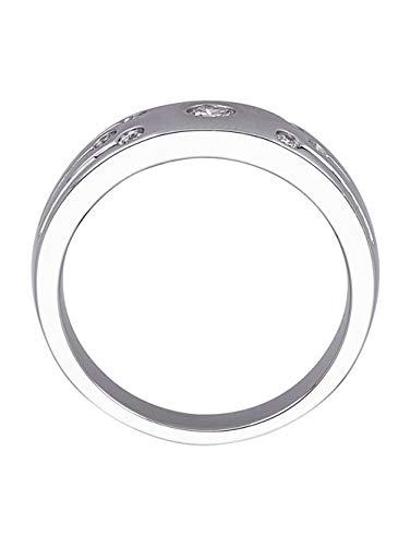 Diemer Platin Damen 950 Platin Ring mit in und in und Brillant in Weiß
