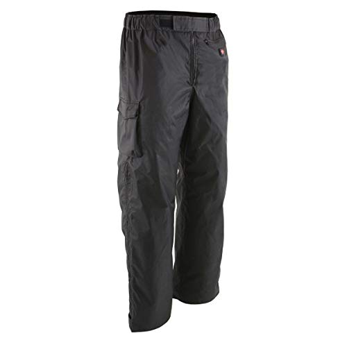 Milwaukee Leather MPM5715SET Men's Black 'Heated' Textile Water Resistant Over Pants (Battery Pack Included) - Medium