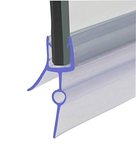 HNNHOME, guarnizione sigillante per box doccia, parete della vasca da bagno, per porte a vetri dritte o curvate, in plastica gommata, compatibile con vetro spesso 4-6 mm, fessura 16-22 mm