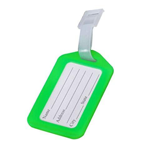 Guangcailun 10 unids Boarding de plástico Verificación Equipaje Viaje Maleta Cuello Tag...
