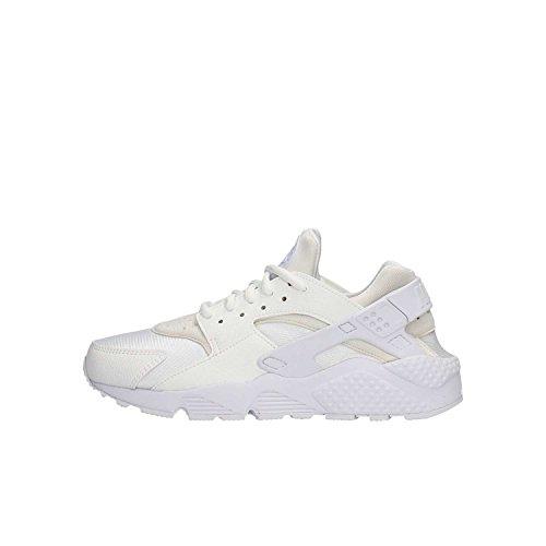 Nike Wmns Air Huarache Run, Scarpe da Ginnastica Basse Donna, Bianco White White 108, 36.5 EU