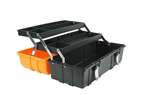 Werkzeugkasten Werkzeugbox Werkzeugkiste, Werkzeugkoffer tragbar mit Griff leer 17 Inch
