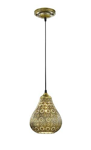 Trio Leuchten LED Pendelleuchte Jasmin 303700104, Metall altmessing, exkl. 1x E14