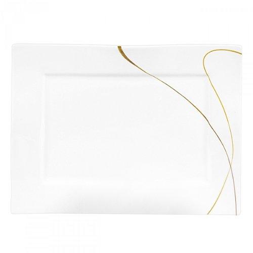 Serie Scala Servierplatte / Platte 30x22x2cm, weiß (1 Stück)