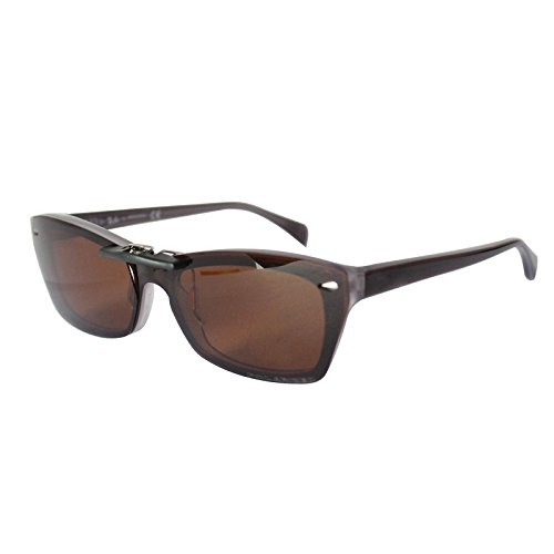 Custom Polarized Clip On Sunglasses for Ray-Ban RB5255 (RX5255) 51-16-135(No Frame) Brown