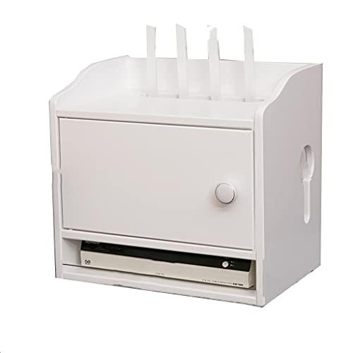 Caja de Almacenamiento de enrutador Caja de Almacenamiento de Alambre de Madera Maciza Estante de Almacenamiento Caja de Almacenamiento de Panel de conexión