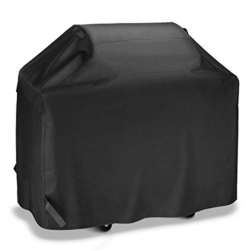 iDepot BBQ Grill Cover 58 Inch, Outdoor Heavy Duty Waterproof Gas Grill Covers, Professional UV Fade Resistant, All Weather Protection Barbecue Cover Fits Weber Char-Broil Nexgrill Brinkmann and More
