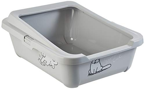 Karlie Simon 's Cat 51756 - Arena para gatos, 43 cm x 32 cm x 13 cm, color gris