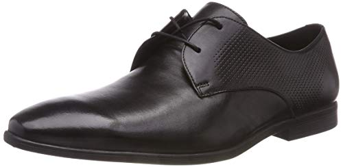 Clarks Men's Bampton Walk Black Leather Formal Shoes-8...