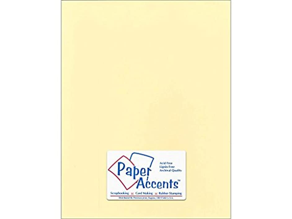 Accent Design Paper Accents Cdstk Smooth 8.5x11 74# Butter Cream