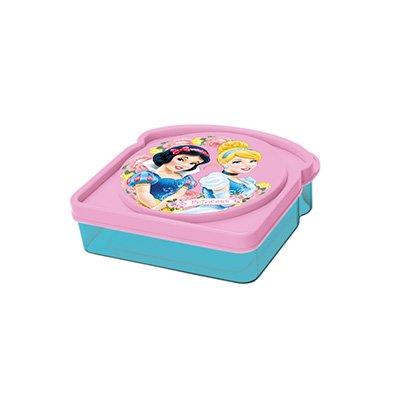 ALMACENESADAN 2408; mehrfarbige quadratische Sandwich Maker Disney Prinzessinnen; Kunststoffprodukt; Kein BPA; Abmessungen 12,5x12,5x4 cm