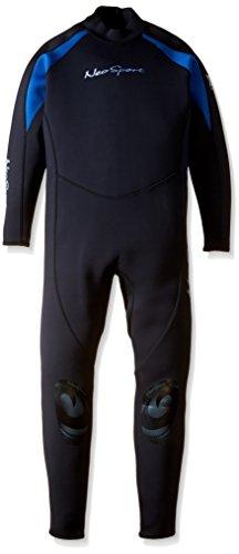 NeoSport Wetsuits Men's XSPAN Full Jumpsuit, Blue Trim, X-Large - Diving, Snorkeling & Wakeboarding