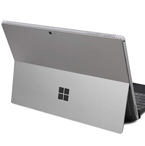 DolDer Microsoft Surface Pro 4/5/6 Skin Chrome-Soft-Grau Designfolie Sticker für Microsoft Surface Pro 4/2018 Microsoft Surface Pro