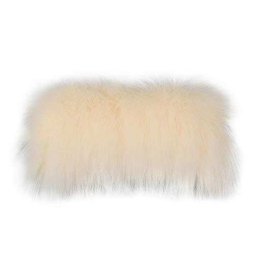Faux Fox Fur Stripe Color Fur Trim Fur Slides Slipper Sandal DIY for Women with Soft Furry Faux Fox Fur Trim for Making Slipper