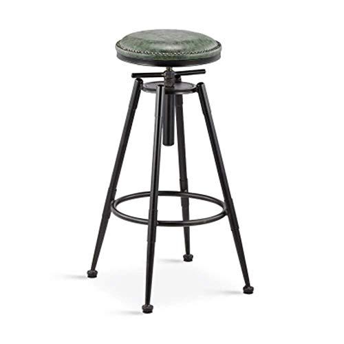 LJBXDCZ NJ barkruk barstoel hoge kruk bar stoel voor restaurant café keuken kapsalon in hoogte verstelbare barkruk decoratieve rugleuning stoel barkruk 3.12