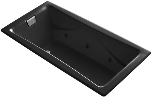 Learn More About Kohler K-865-H2-7 Tea-For-Two 6Ft Drop-in Whirlpool, Black Black